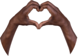 Hands showing a heart pose